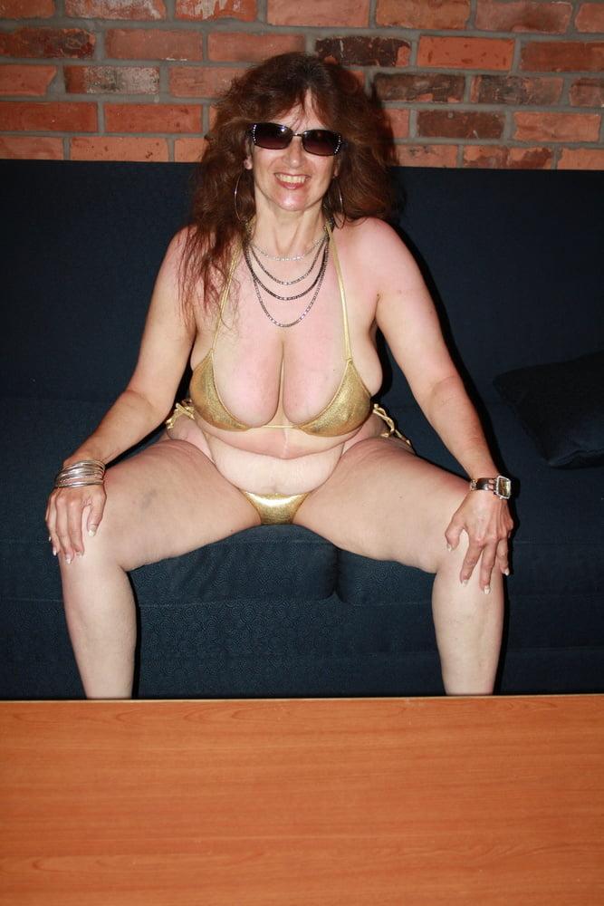 Mature women in skimpy bikinis
