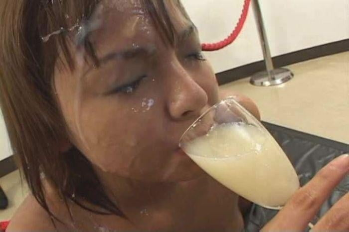 Asian Whores Drink Cum