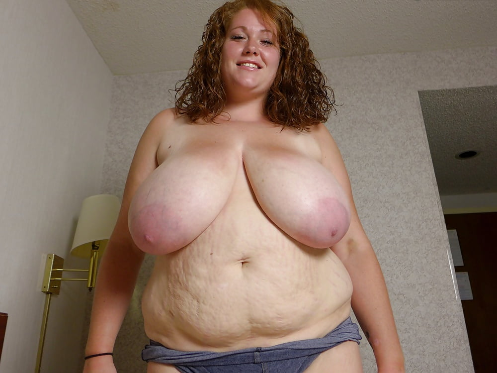 Saggy tits and big belly bbw