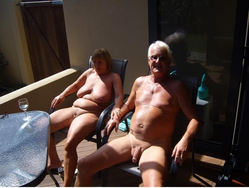 Couples naked old Nudist Couple