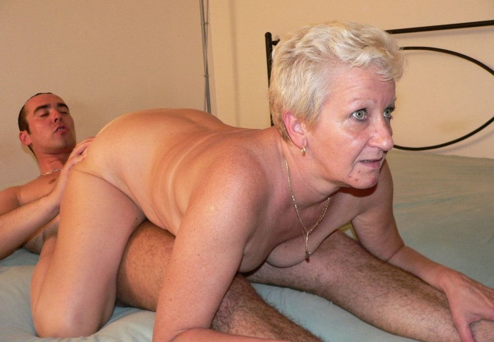 Jocks and granny in the nude