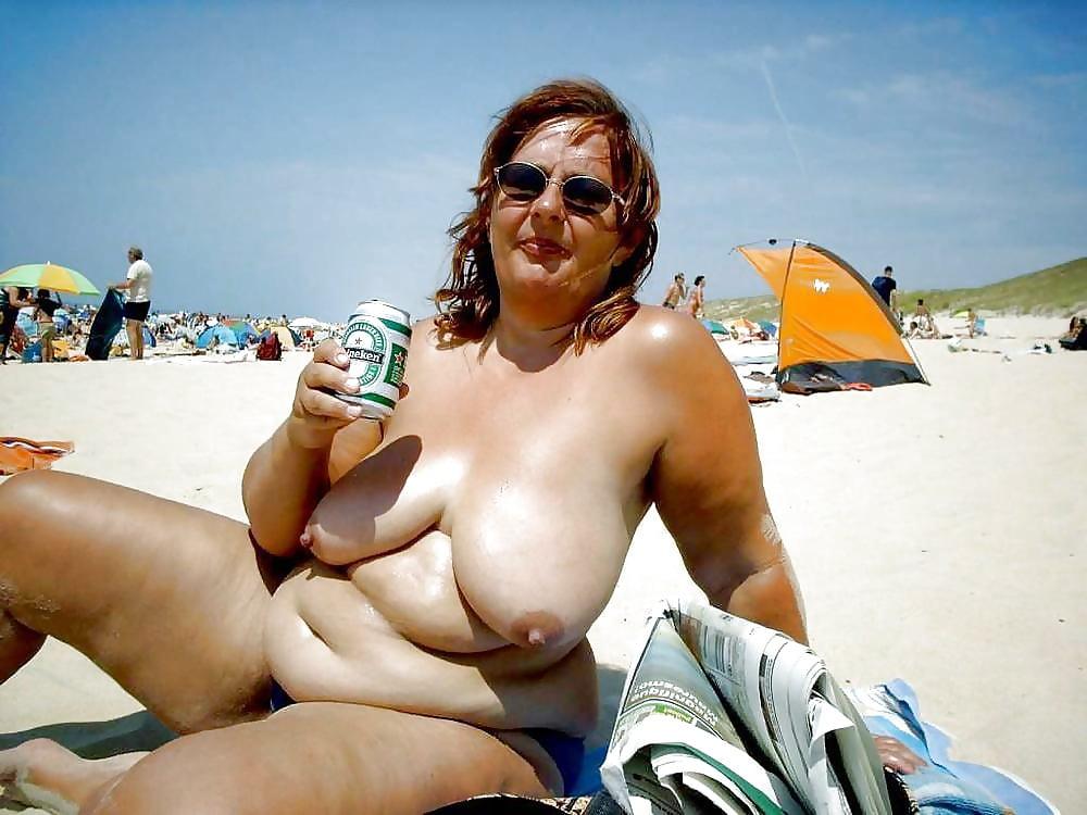 Big tits in the beach