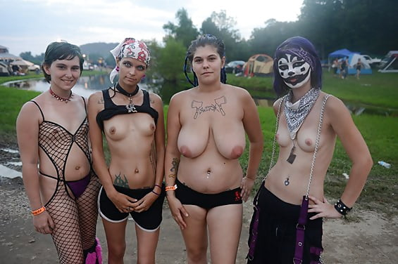 Women xxx festival naked girl