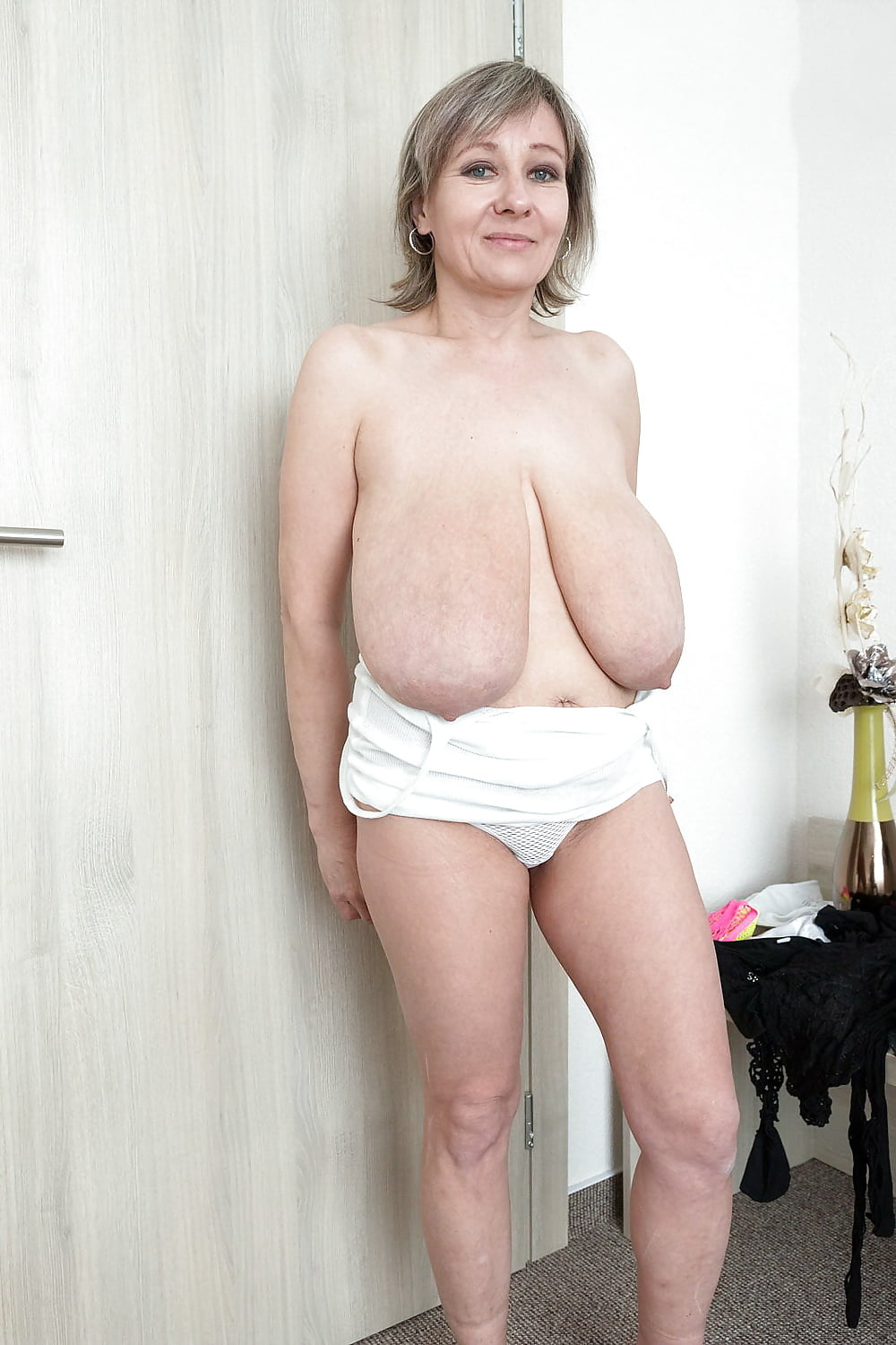 Large breasted nude mature