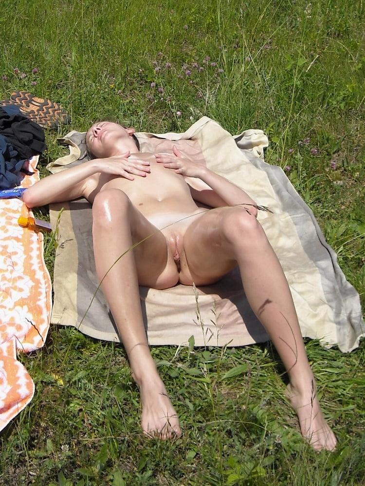 Sicilia enjoys outdoor masturbating - 2 part 8