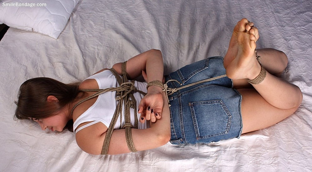Rope dress, tied girl
