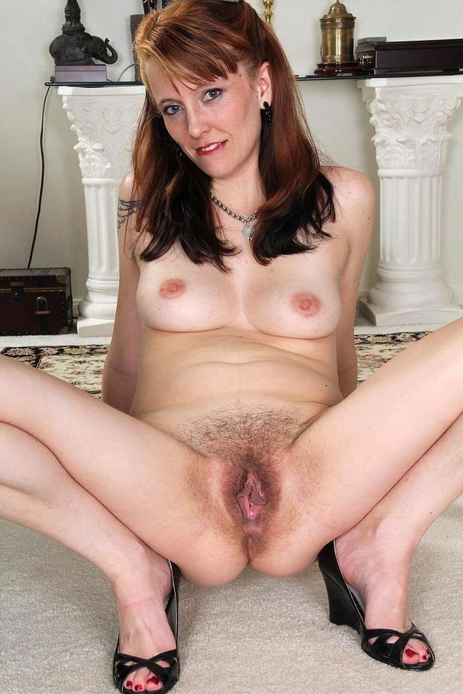 Mom Spreading Hairy Pussy