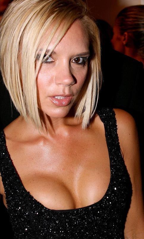 Victoria beckham big boobs, hot boobs touching