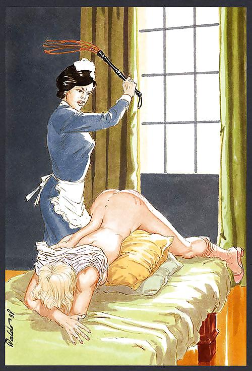 Gay spanking art