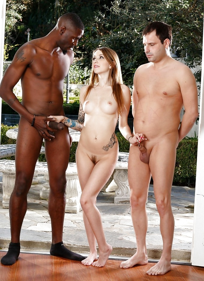 Outdoor interracial couples