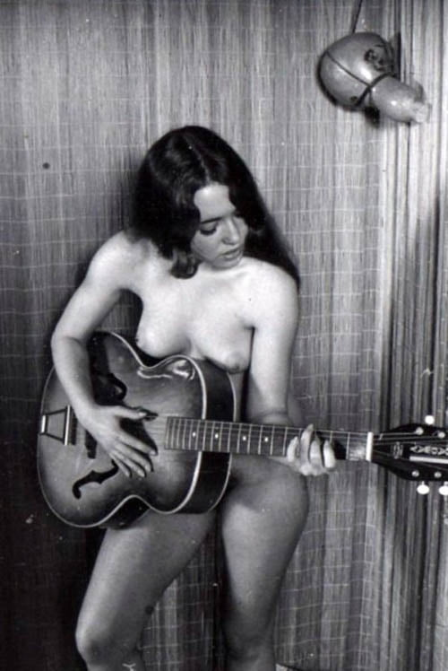 Vintage musician female nude, group of bottomless girls porn