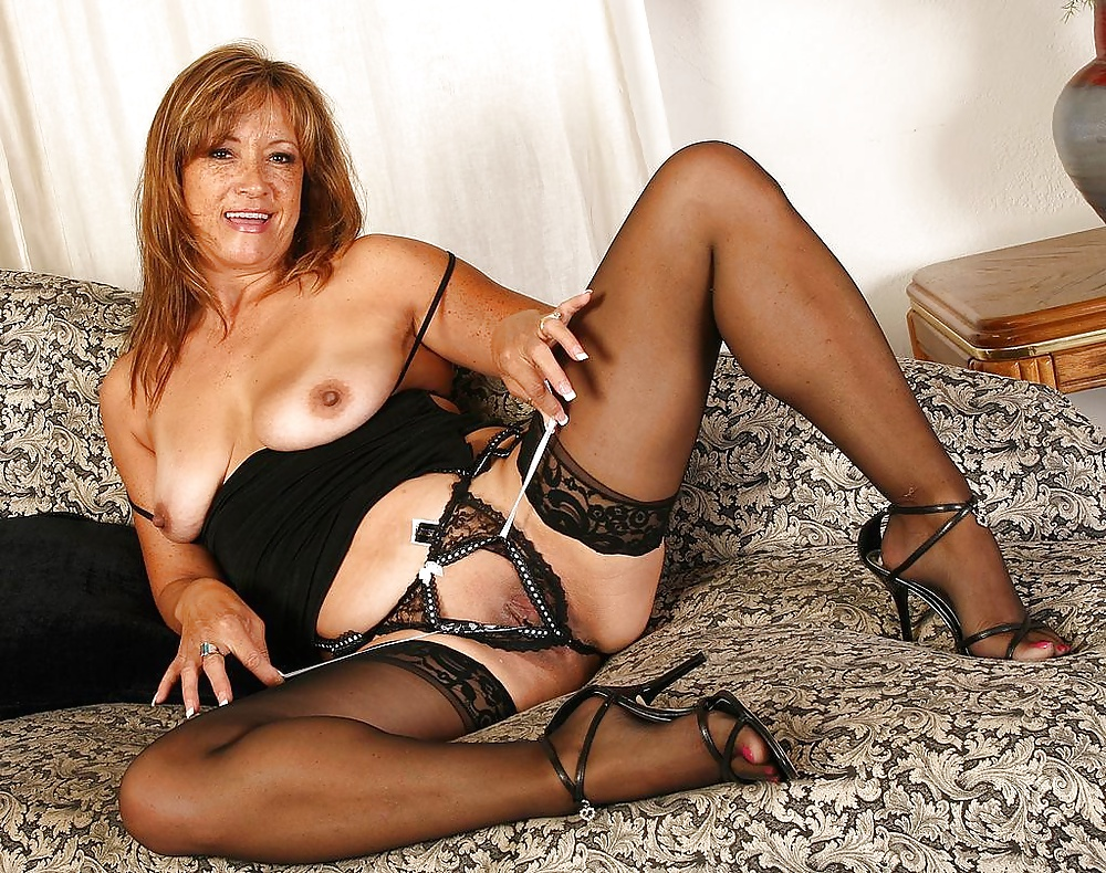 Nude mature stockings naked down