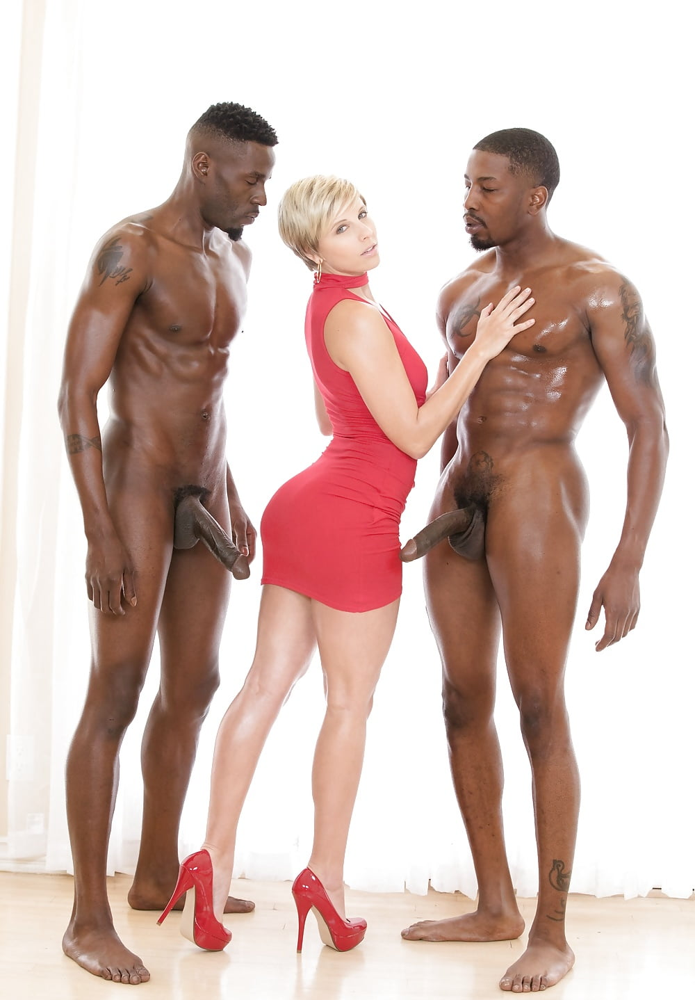 Black men with busty white woman 4