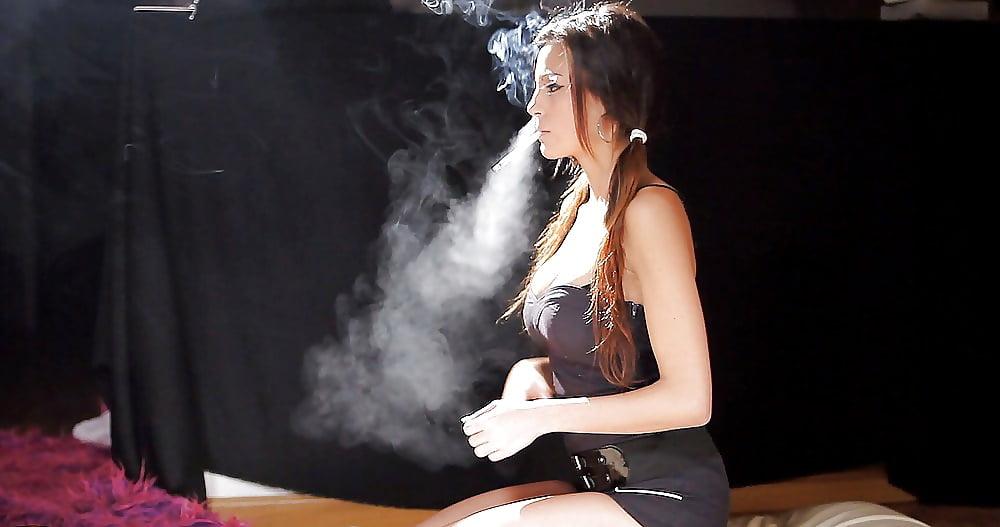 Fetish Stunningly Gorgeous Hot Glamour Smoking Transgender Sexpot