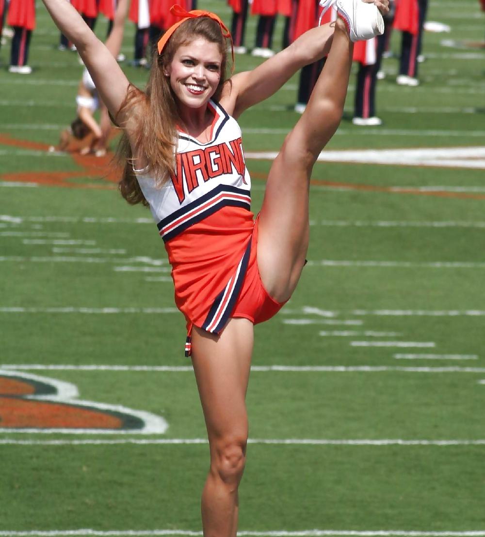 Kicking cheerleader upskirts