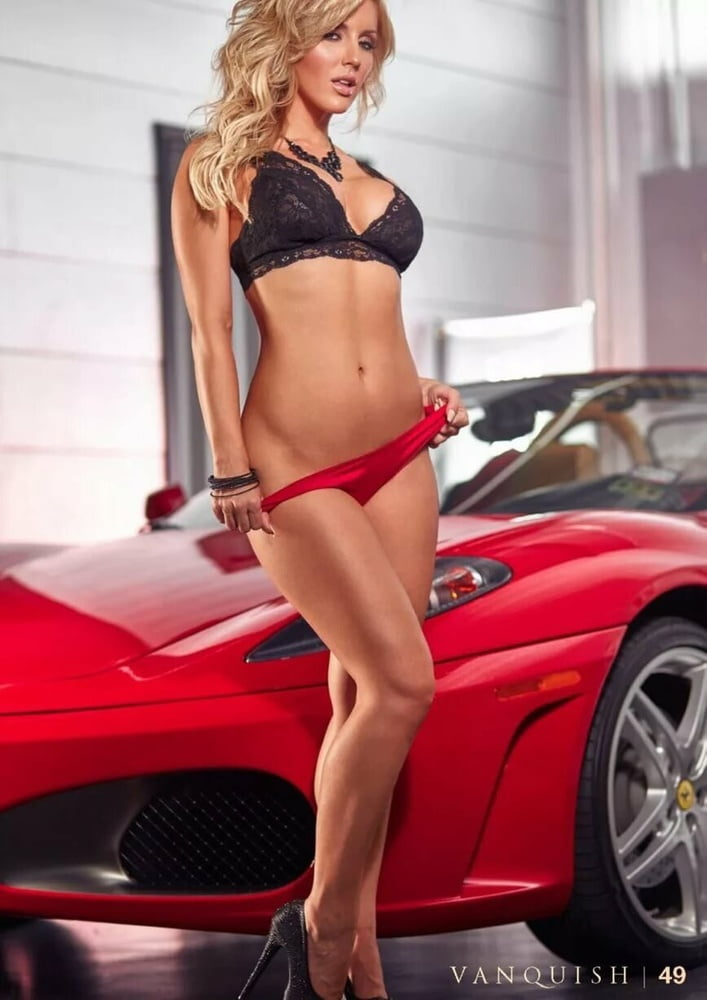 Muscle car babe and car girl pictures