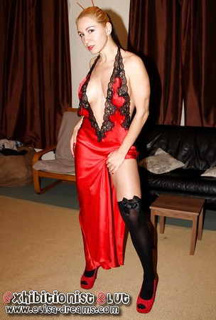 Naughty in red lingerie for my lovers