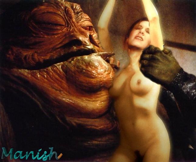 Princess leia and jabba the hutt naked