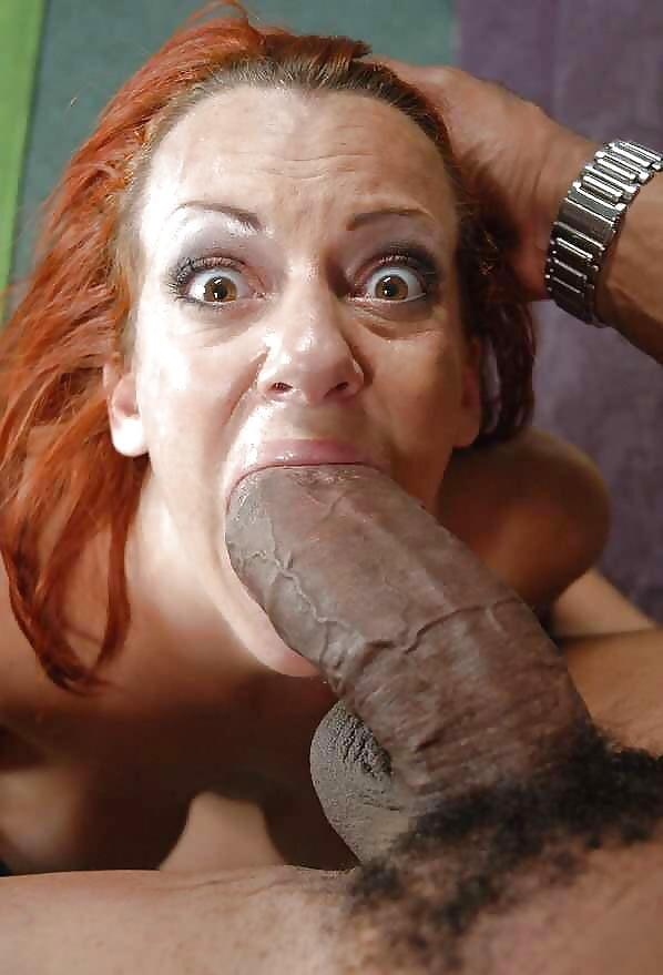 порно рыжая в шоке от здоровенного черного хуя - 11