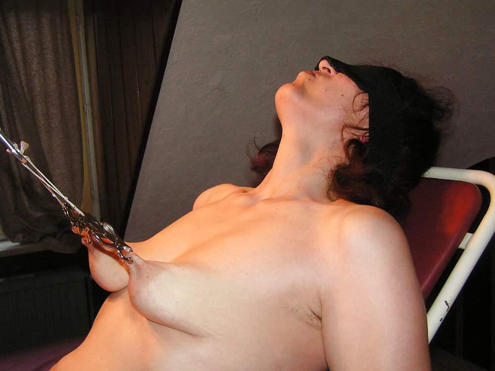 Lesbian nipple pinching