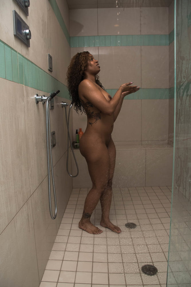 SekushiLover - Phat Ass Side Chick Poses in the Shower - 19 Pics