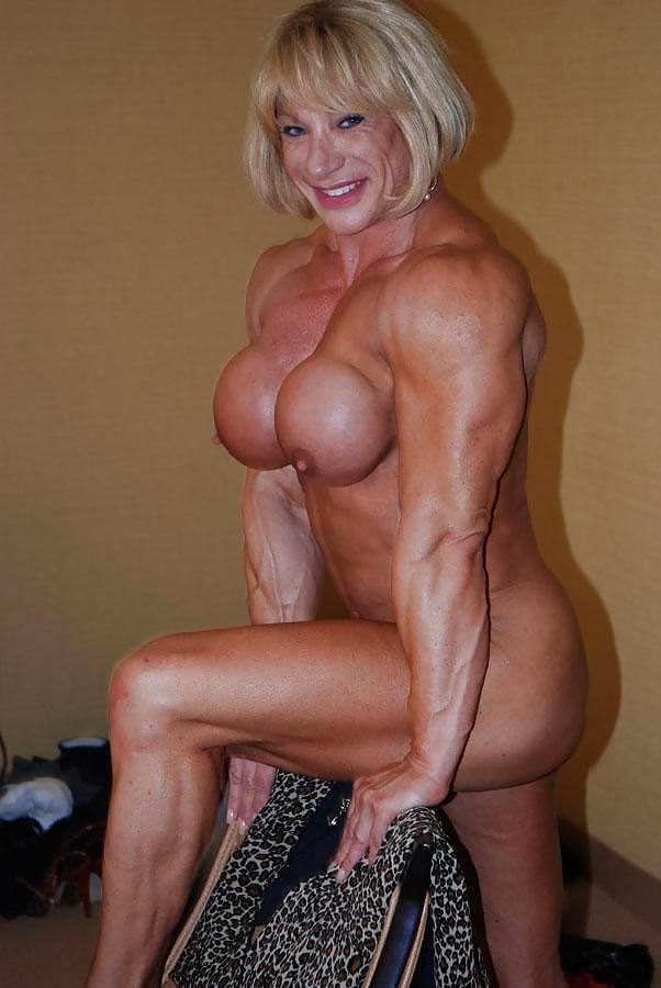 Older adult nude female