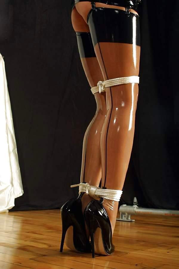 Extreme high heel bondage fetish