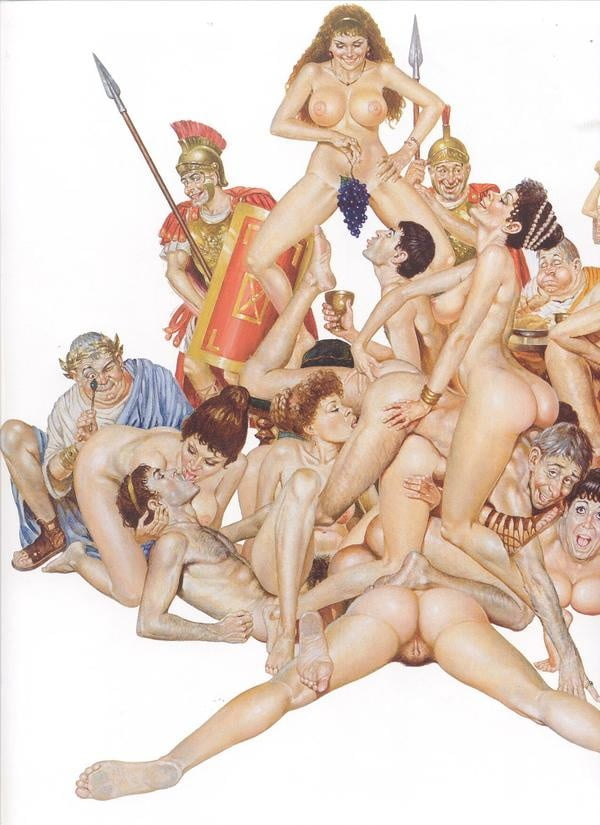 Sex orgy of dwarfs and people