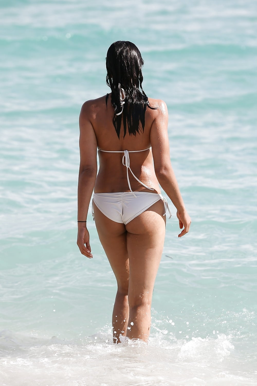 Point. padma lakshmi topless beach understand