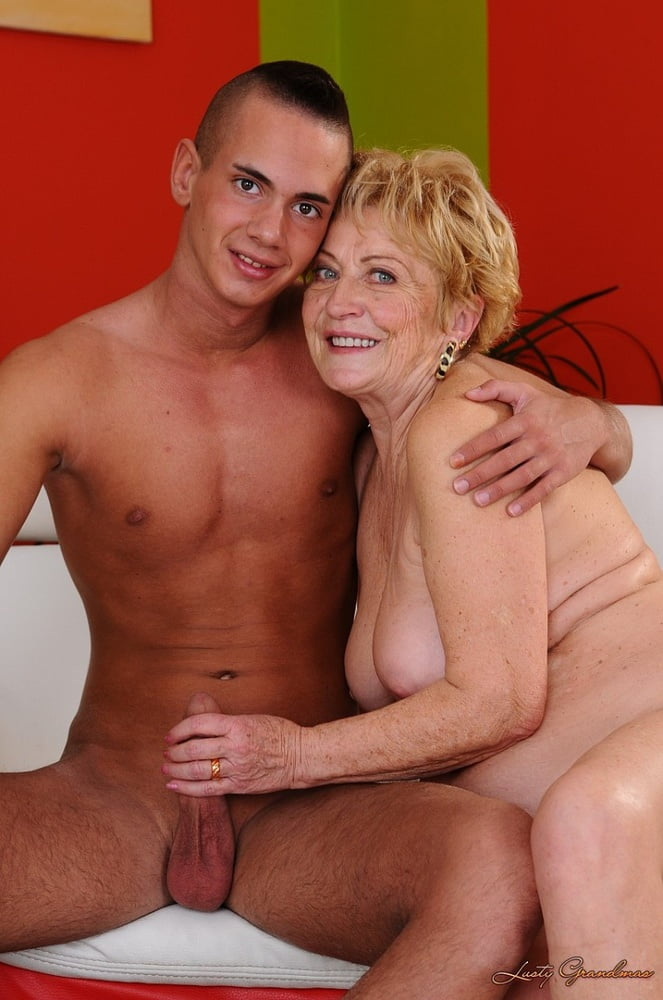 Mature woman fucked by young man