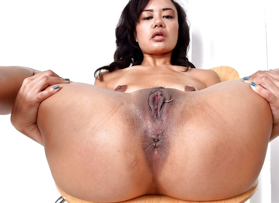 Asian slut annie cruz gets fucked in her pierced pussy and ass