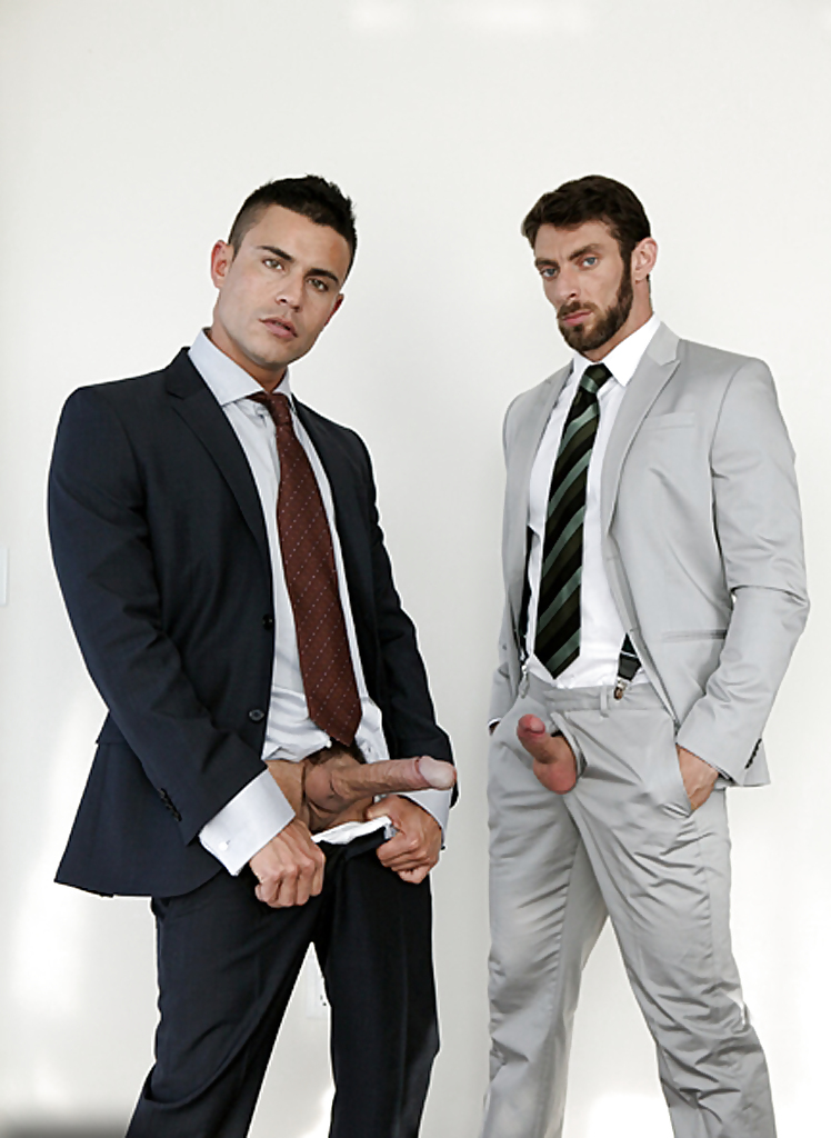 Cocks in suits