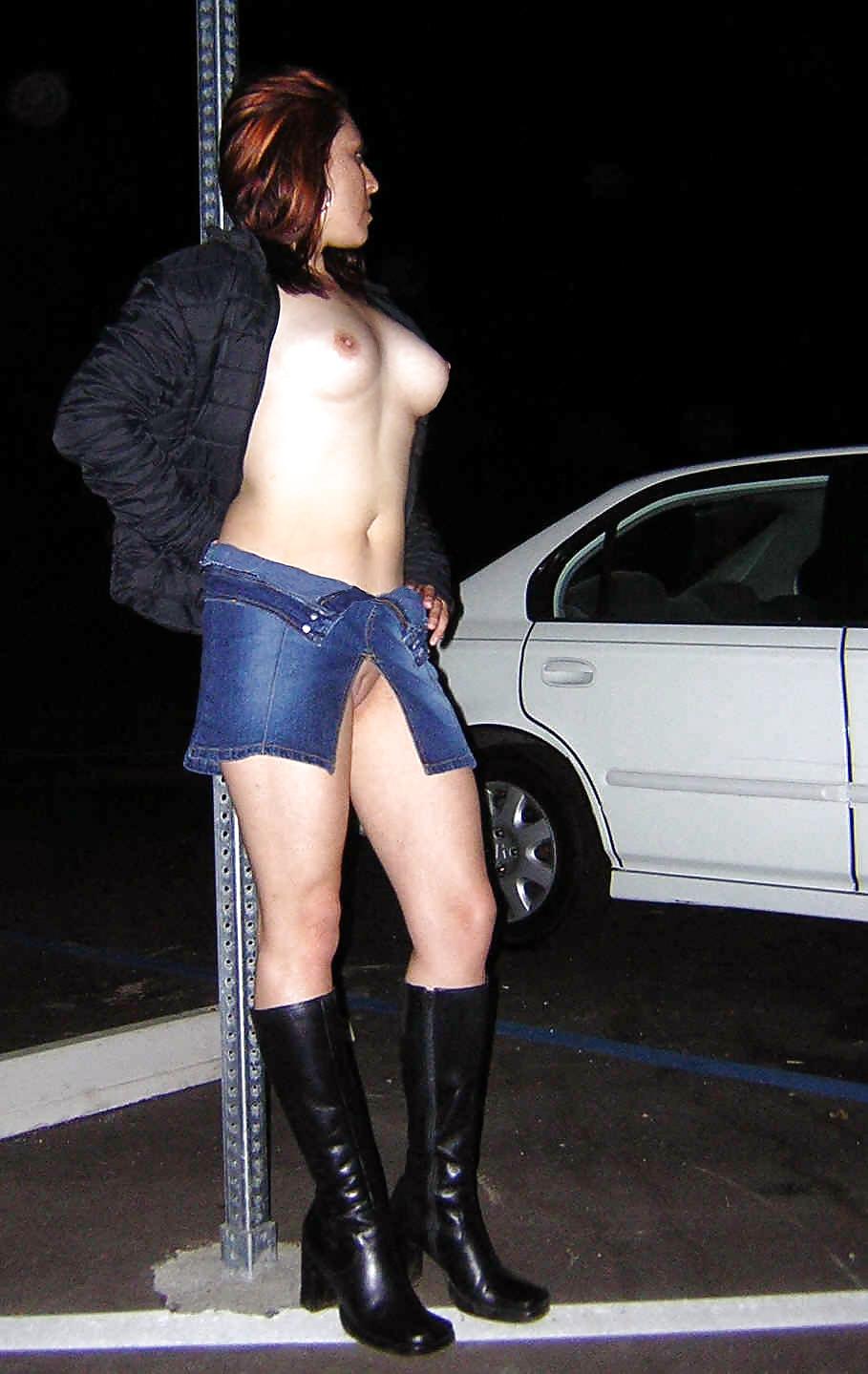 Trashy old street slut pics sex