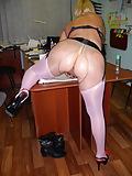 Pushuna's girdled round butt