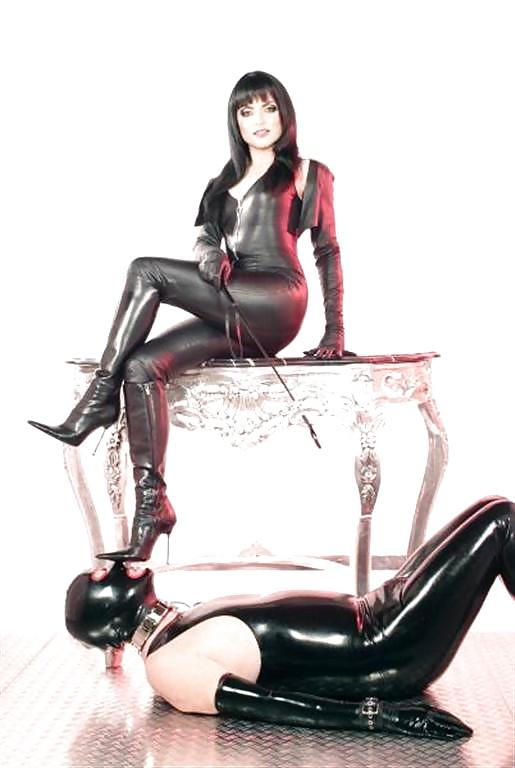 Bbw leather domina