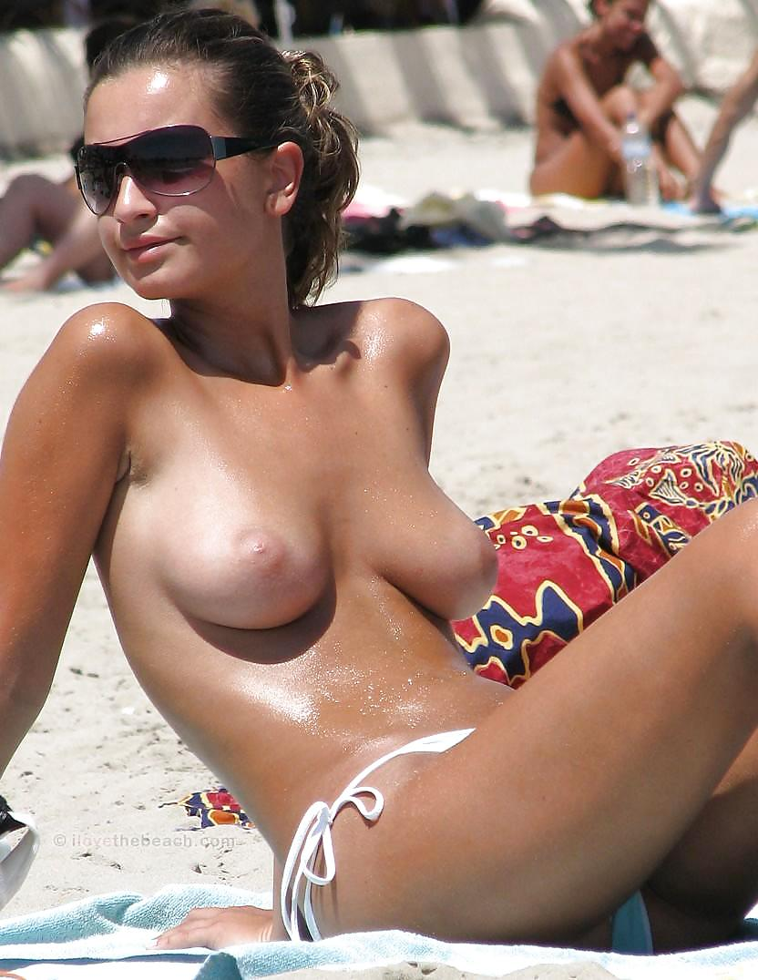 Big boobs nude beach babe