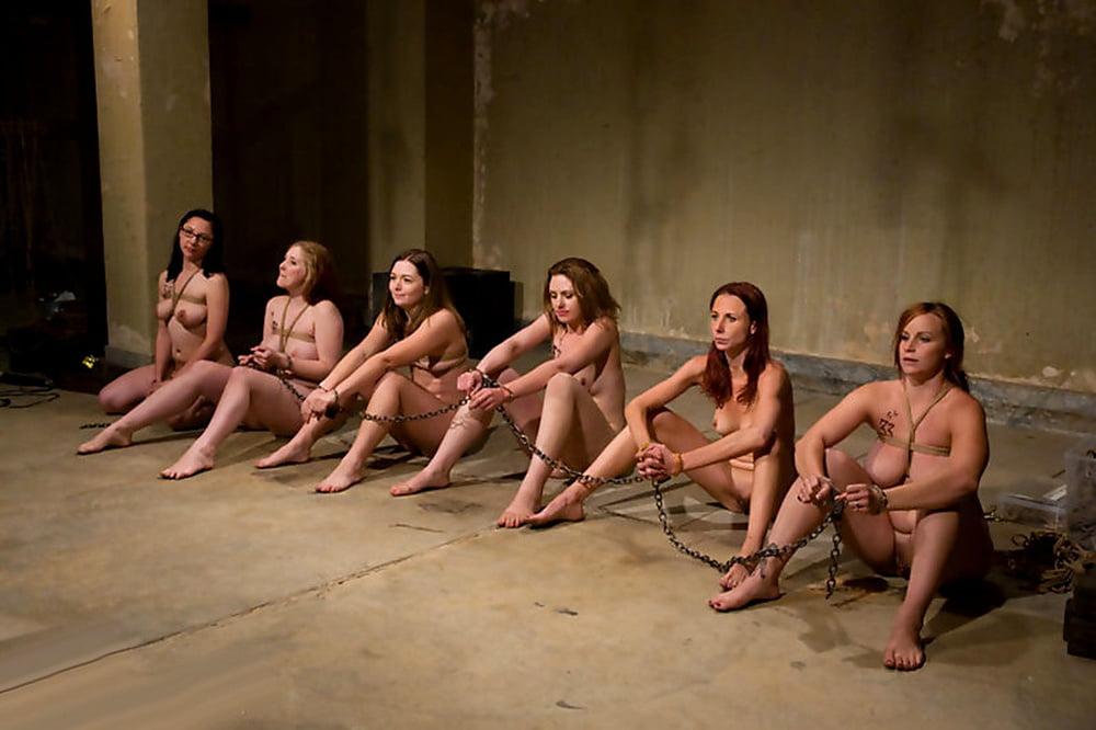 Naked bondage sex slaves