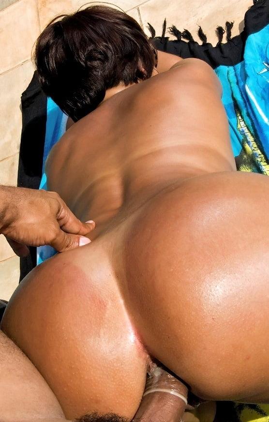 Big ass brunette gangbang