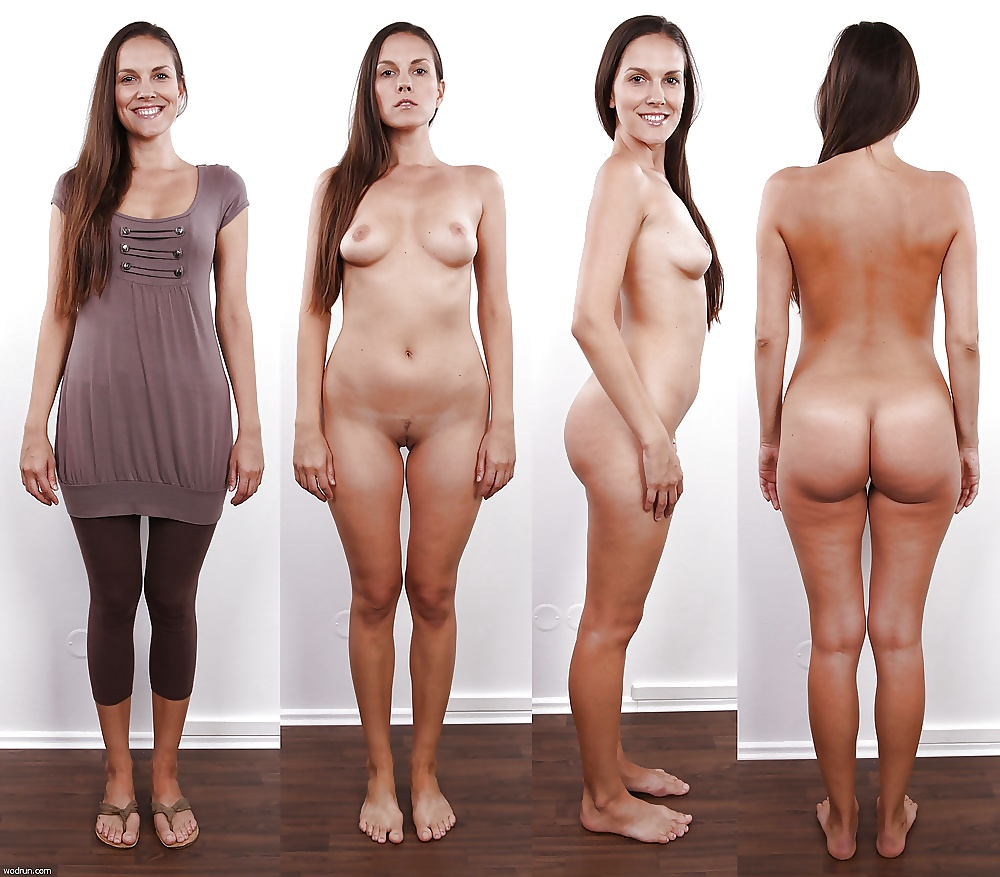 Women dressed then naked
