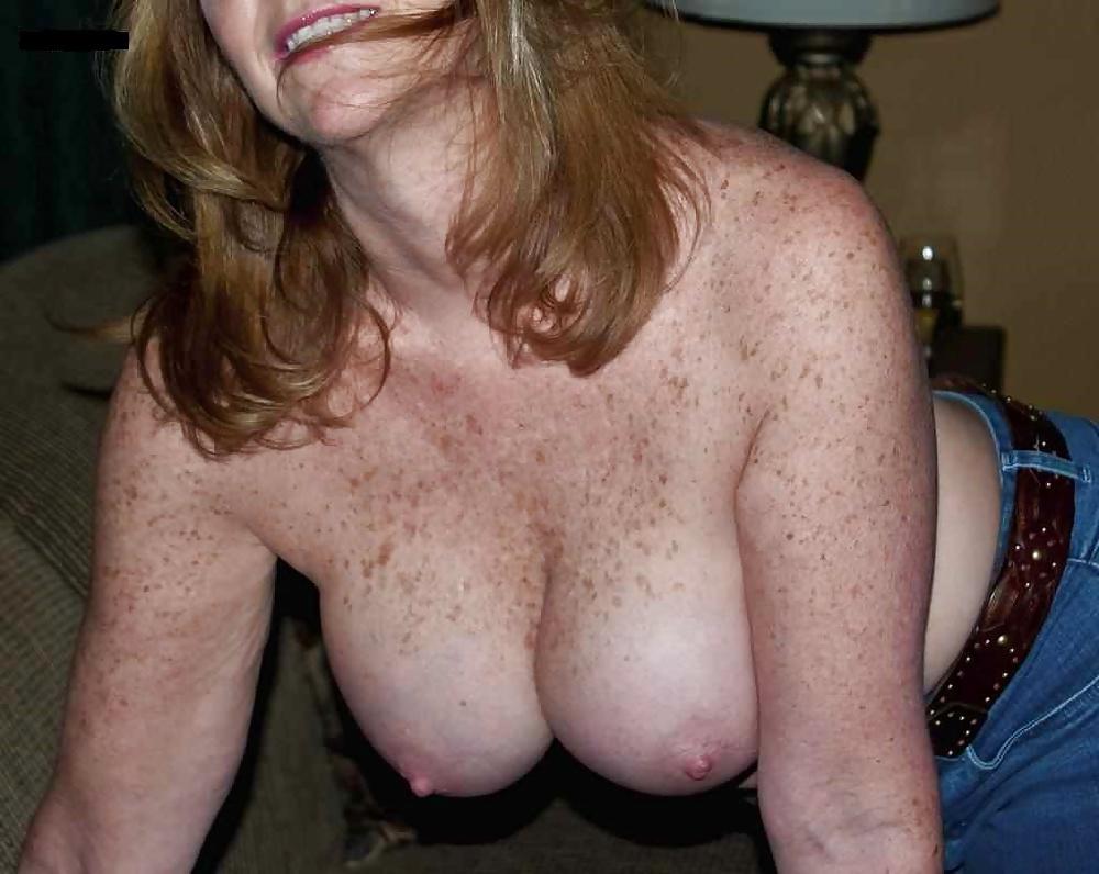 Happy Smiling Mature Woman Wearing Bikini Stock Image