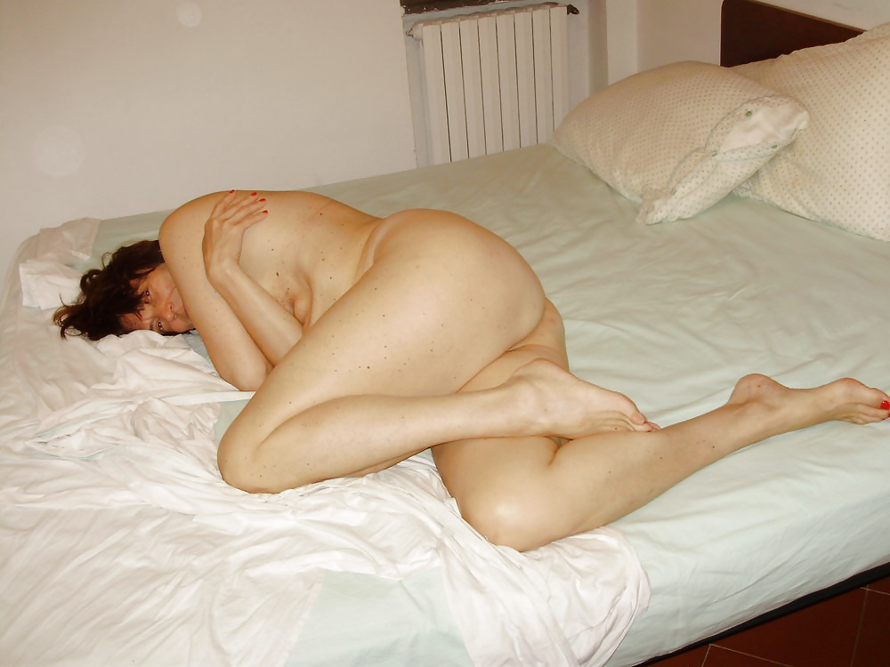 Newly Wed Wife Lying Nude On Bed