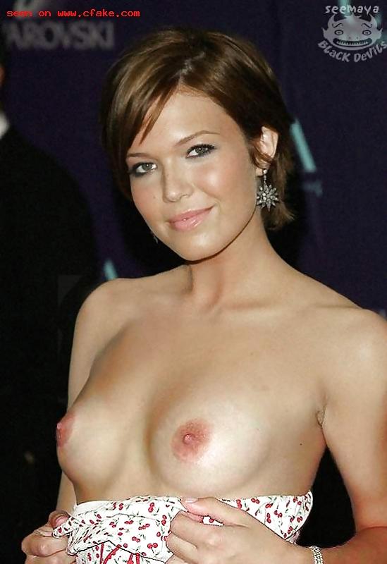 Mandy Moore In Galvan Silk Dress