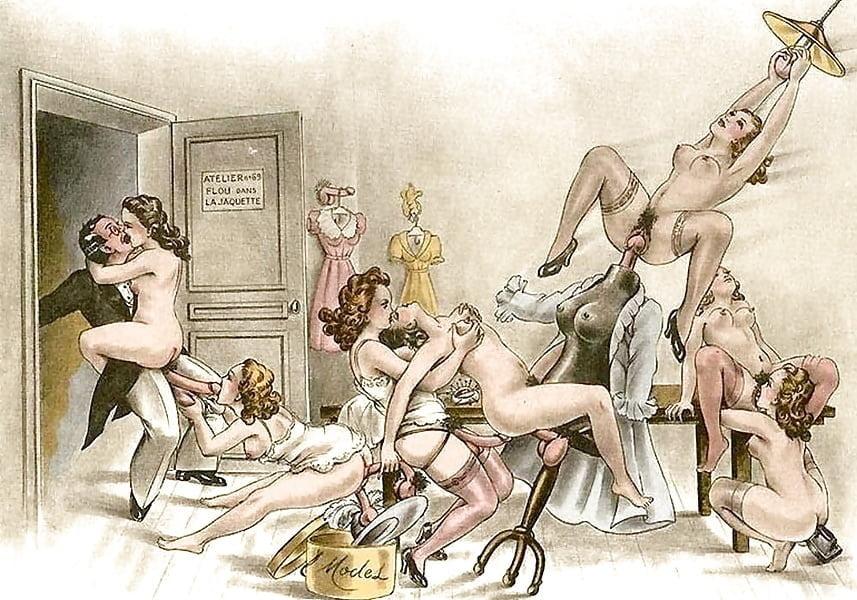Порнография рисунок ретро, смотреть в кустах порно