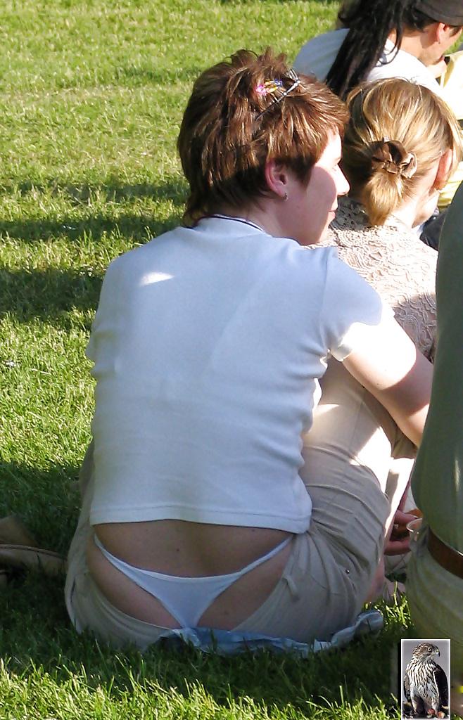 Sunny Day Teen No Panties Upskirt Voyeur View