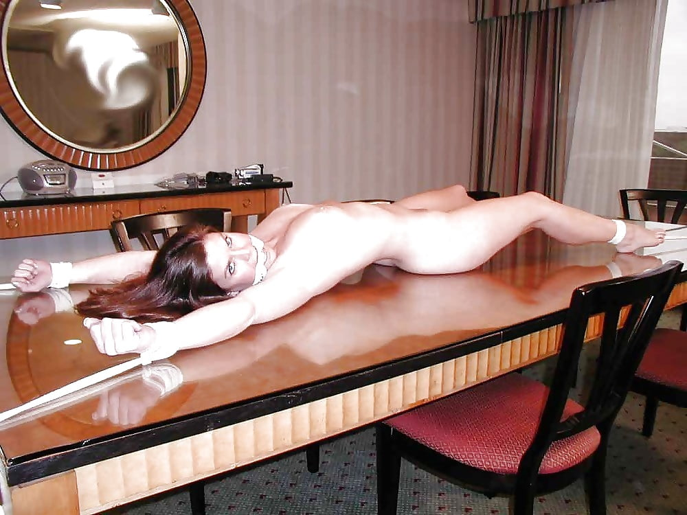 Tied to table porn pics
