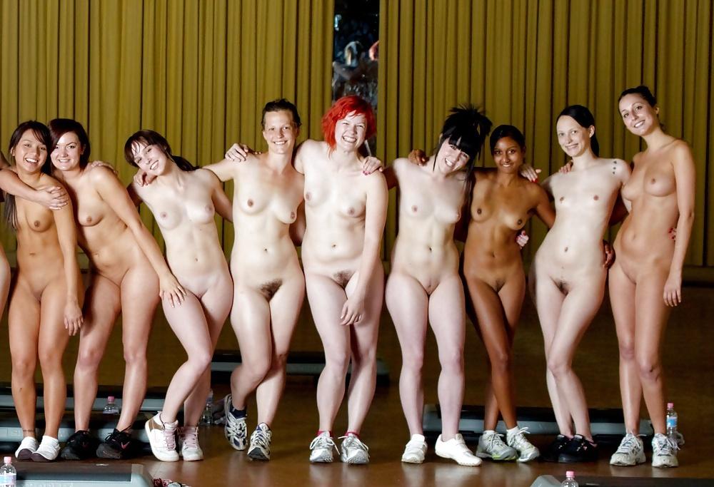 Naked girls orgy team