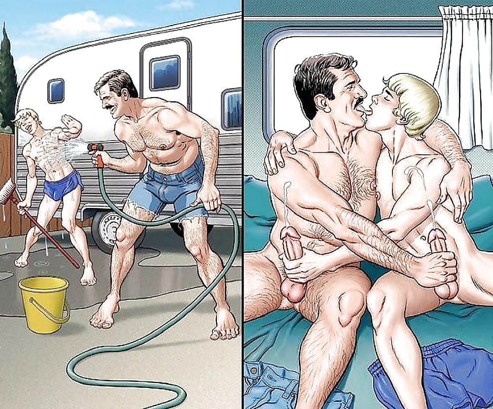 Nude Beach Gay Sex Comics