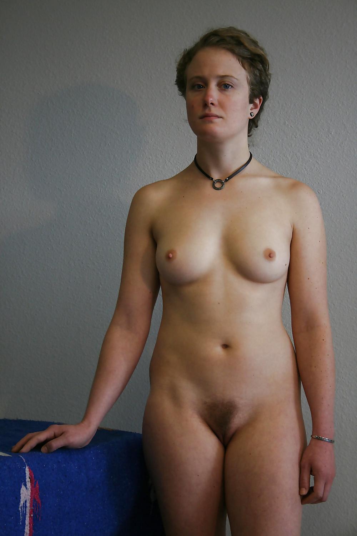 Nude Sexy Woman Standing Panties Down