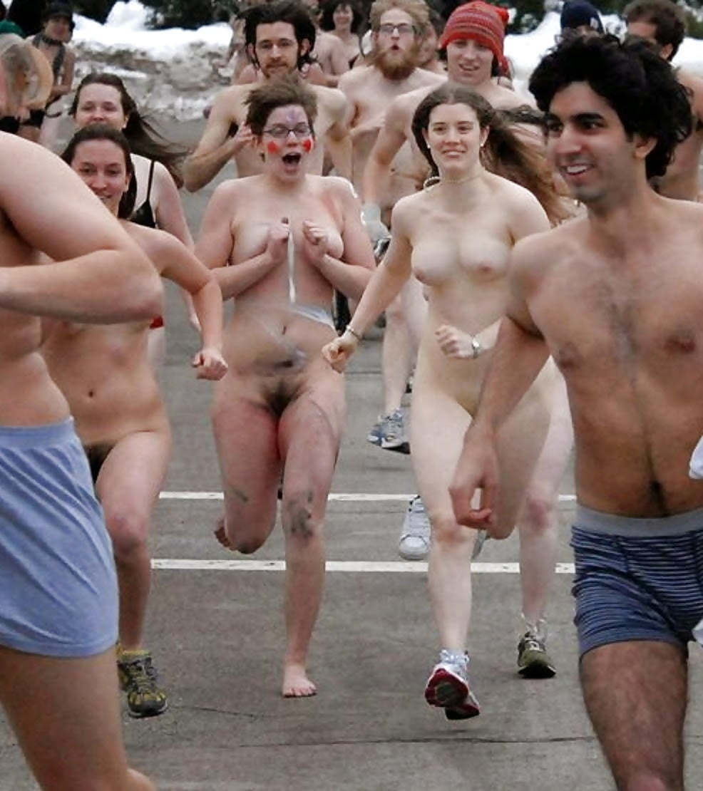 Downtown Los Angeles Is Over Run With Naked Dancers