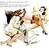 Lesbian Art and Cartoon Captions 1